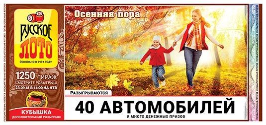 Русское Лото тираж 1250